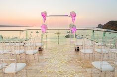 Soft colors help magnify the natural backdrop and beauty of #BreathlessCaboSanLucas #Mexico #DestinationWedding