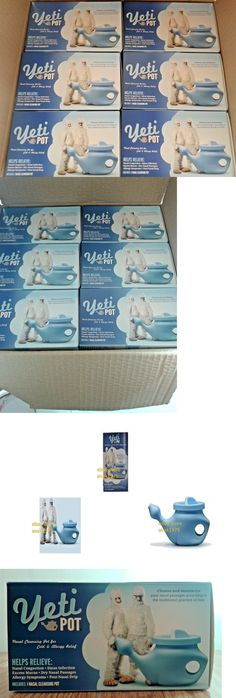 Neti Pots and Cleansers: 12 Boxes Neti Yelti Pot Nasal Cleansing Pot For Cold And Allergy Relief. BUY IT NOW ONLY: $49.49