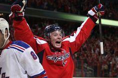Alex Semin scores winning goal to beat Rangers!!! #Hockey #Capitals #Caps #RocktheRED
