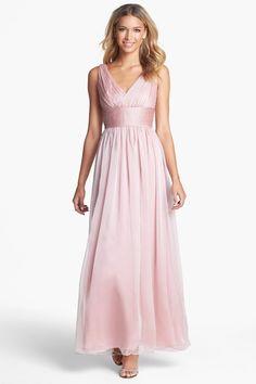 Monique Lhuillier Bridesmaids Sleeveless Ruched Chiffon Dress  $99