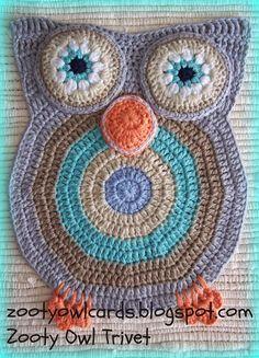 Zooty Owl Trivets:   Pattern for free!