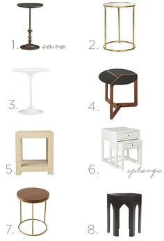 On the Hunt: Side Tables | Sacramento Street