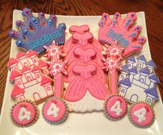20 princess sugar cookies Tiara Dress by BakeMyDayCookies on Etsy, $50.00