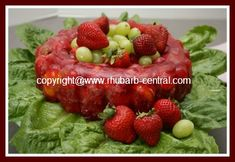 USE FROZEN Rhubarb for a RED Christmas Salad and Mandarin Oranges and Strawberries