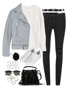 """Untitled#4328"" by fashionnfacts ❤ liked on Polyvore featuring rag & bone, ASOS, MANGO, Acne Studios, Yves Saint Laurent, Topshop, Forever 21, Ray-Ban and Michael Kors"