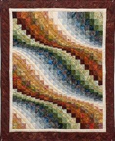 Bargello Wave Wall Hanging -fine quilting done by a local Amish woman..