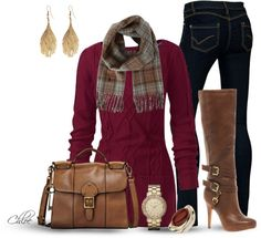"""""""Plaid warmth. :)"""" by chloe-813 ❤ liked on Polyvore"""