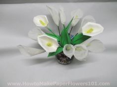 papercallalily001 How to Make a Paper Calla Lily Flower pictures
