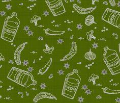 In a pickle -gherkin fabric by glimmericks on Spoonflower - custom fabric