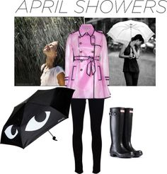 """""""My Rainy Outfit"""" by cummingsmorgan ❤ liked on Polyvore"""