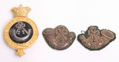 British; Durham Light Infantry, Officer's Officer's Glengarry & Collar Badges, 1881-1901( Formed from 68th & 106th Regiments of Foot)