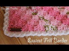 Easiest Crochet Frills Border Ever! - Crochet Ideas