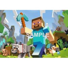 Minecraft Group Picture ~ Edible Image Cake Topper