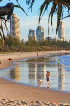Beautiful Burleigh Heads beach on the Gold Coast of Australia