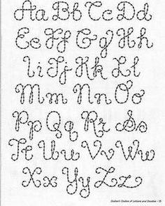 Borduur alfabet. Vind je het moeilijk om teksten te borduren. Schrijf de tekst dan eerst met een verdwijnstift Over de lijnen kan je dan borduren. Net ernaast gegaan. Geen probleem binnen 2 dagen verdwijnt de inkt vanzelf. Kijk voor de verdwijnstift, vilt en garen eens op http://www.bijviltenzo.nl