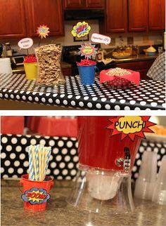 Moucha Cafe: Superhero 1st Birthday