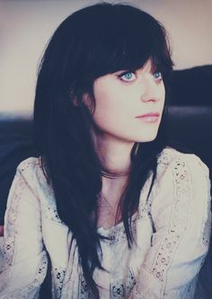 aad8bd678683 style icon  Zooey Deschanel I love her retro look. She seriously has the  most perfect bangs. I love Zooey!