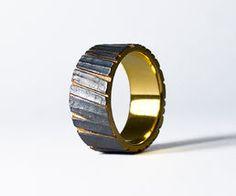 Tommi Salonen / SAVU design - Kelo (wide ring, matted) NordicJewel.com