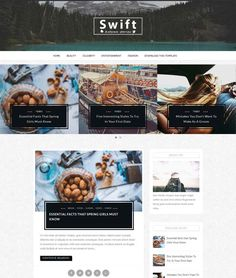 Swift responsive blogger theme Blog Design, Portfolio Design, Social Bookmarking, Blogger Themes, Blogger Templates, Blog Tips, Swift, Free, Portfolio Design Layouts