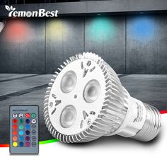 Ikeacasa, 10W PAR20 E27 RGB LED Bulb Stage Lamp Light 16 Colors Remote Control Flash Strobe AC 85-265V //Price: $7.78 & FREE Shipping //     #interiors #friends #food Led, Strobing, Lamp Light, Barware, Remote, Stage, Bulb, Interiors, Free Shipping