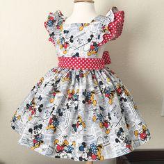 Minnie & Mickey Love Pinafore Dress