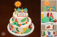 The Hungry Caterpillar cake. From egg to butterfly.