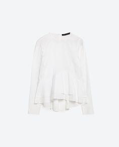 Popeline top from Zara