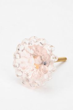 Pressed Glass Flower Knob  #UrbanOutfitters