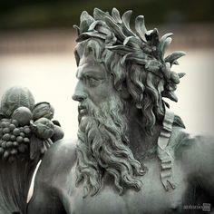 Poseidon (detail), Château de Versailles