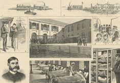 Hoffman Island and Swinburne Island off Staten Island to house sick immigrants