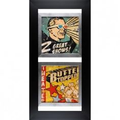 Great Shows and Butter Topped vintage wall art