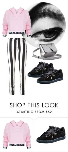 """""""puma"""" by getdressedwithme on Polyvore featuring Local Heroes, Puma i Off-White"""