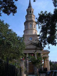 Beautiful old St. Philip's Church, Charleston, SC