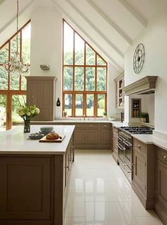 A contemporary twist on a classic shaker kitchen, including feature island, bespoke storage and built-in luxury appliances. Open Plan Kitchen, New Kitchen, Luxury Kitchens, Home Kitchens, Home Decor Kitchen, Kitchen Design, Kitchen Ideas, Kitchen Tools, Tom Howley Kitchens