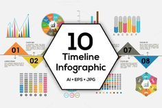 Timeline Infographics Bundle. by Allies Interactive on Creative Market