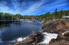 High Falls near Bracebridge, Ontario in Muskoka #cottagecountry  #CDNGetaway!