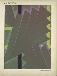 Art Deco: Style: Strong block colour and great use of positive & negative shapes