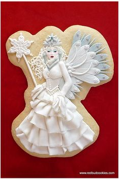 Sugarplum Fairy Cookie~                                           by Redbud Cookies, OH, white, fairy, princess, angel