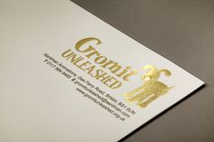 Gromit Unleashed : Letterhead, letterpress printed gold foil and embossed on 120gsm Conq Oyster Wove.