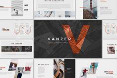 Vanzer Powerpoint by ThemeDevisers on @creativemarket