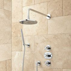 Callas Thermostatic Shower System - Brushed Nickel