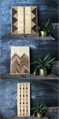 Beautiful tribal wood wall art that will catch the attention of every guest | Made on Hatch.co