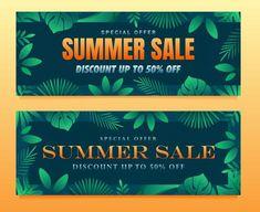 Special offer summer sale banner templat... | Premium Vector #Freepik #vector #banner #frame #sale #abstract Summer Banner, Sale Banner, Banner Template, Summer Sale, Banner Design, Green Leaves, Templates, Frame, Nature