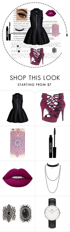 """""""Sans titre #66"""" by innnes ❤ liked on Polyvore featuring Lavinia Cadar, GUESS, Lord & Berry, Lime Crime, New Look and Daniel Wellington"""