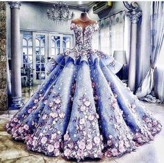 a beautiful floral dress : a beautiful floral dress? a beautiful floral dress? a beautiful floral dress? Pretty Prom Dresses, Stunning Dresses, Beautiful Gowns, Wedding Dresses, Robes Disney, Quince Dresses, Floral Dresses, Floral Gown, Vintage Dresses