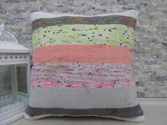 Decorative Pillow Vintage Tribal Kilim Lumbar Pillow 18 x 18 Turkish Kilim Pillow Bohemian Home Decor Pillows Rustic Pillow Ethnic Pillow