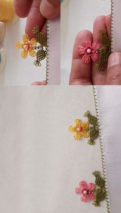 New Design Motif Beaded Very Easy One Needle Lace Model Easy Crafts, Diy And Crafts, Knitted Necklace, Crafts For Teens To Make, Diy Shops, Knitted Shawls, Holiday Crafts, Hand Embroidery, Needlework