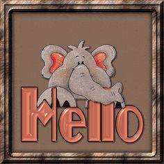 gif photo by Barbara_Wyckoff Dumbo The Elephant, Happy Elephant, Elephant Love, Good Morning Happy, Morning Gif, Hello Pictures, Hello Wallpaper, Hello Quotes, Good Afternoon Quotes