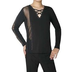 Ballroom dress Dance costumes Dance Latin Modern Men T-shirts-[Sh-1023]