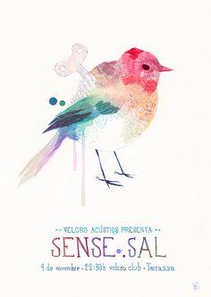poster for concert by Conrad Roset Bird Illustration, Pattern Illustration, Graphic Design Illustration, Art In The Park, Bird Poster, Spring Art, Watercolor Bird, Marker Art, Bird Design